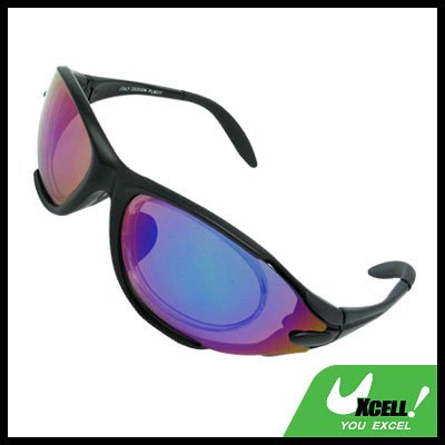 Sports Driving Sunglasses Color Coated Lens and Black Frame