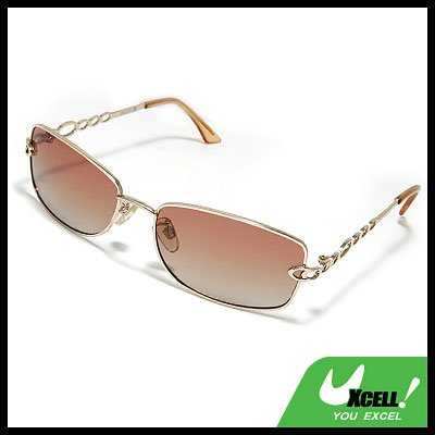Men's Polarized Sports Sunglasses w. Silvery Metal Arm & Frame
