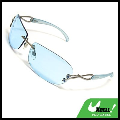 Blue lens Unisex Men Women Sports Eyewear Sunglasses