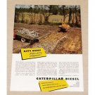 1949 Caterpillar Diesel Front End Loader Tractor Color Print Ad
