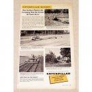 1956 Caterpillar Cat D4 Track Tractors Print Ad
