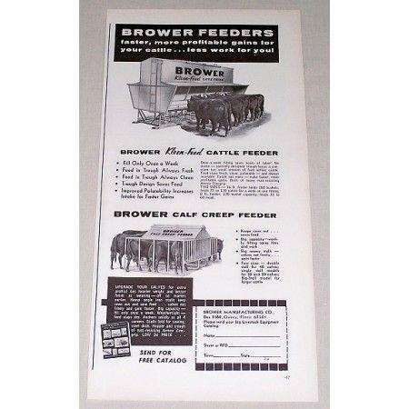 1967 Brower Kleen-Feed Cattle Feeders Print Ad