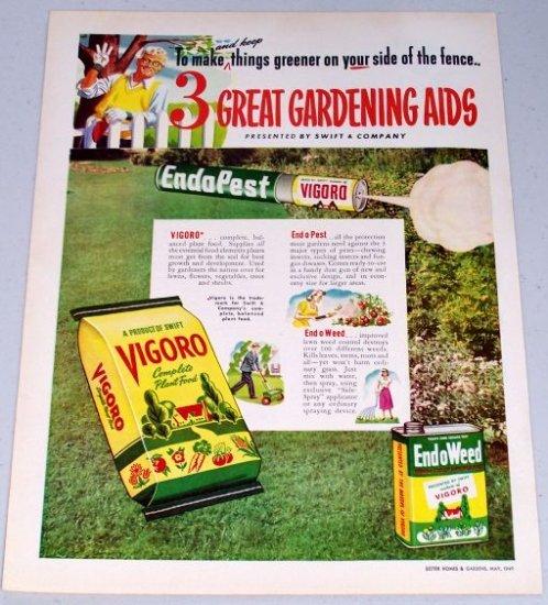 1949 Vigoro Complete Plant Food Color Art Print Ad
