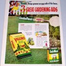 1949 Vigoro Complete Plant Food Color Art Print Ad
