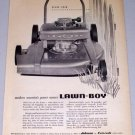 1955 Lawn Boy Power Push Mower Lawn Print Ad
