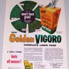 1955 Golden Vigoro Complete Lawn Food Color Ad