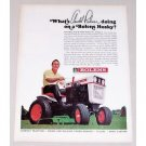1967 Bolens Husky Mower Color Print Ad Golf Celebrity Arnold Palmer