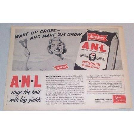 1961 ANL Pelleted Fertilizer Ad Print Ad