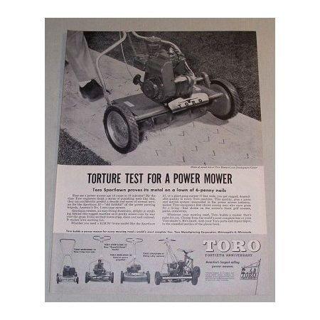 1955 Toro Sportlawn 21 Power Lawn Mower Print Ad