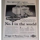 1955 Briggs & Stratton 4 Cycle Gasoline Engine Print Ad