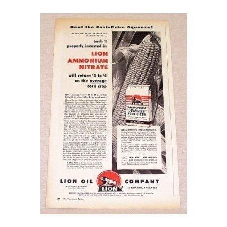 1956 Lion Ammonium Nitrate Fertilizer Print Ad