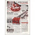 1931 Keith Bros Nursery Strawberries Color Print Ad