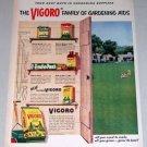 1953 Vigoro Gardening Aids Supplies Color Print Ad