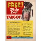 1955 Targot Mastitis Ointment Strip Cup Offer Color Print Ad