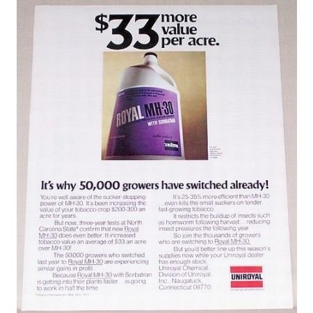 1971 Royal MH-30 Growth Retardant Color Print Ad