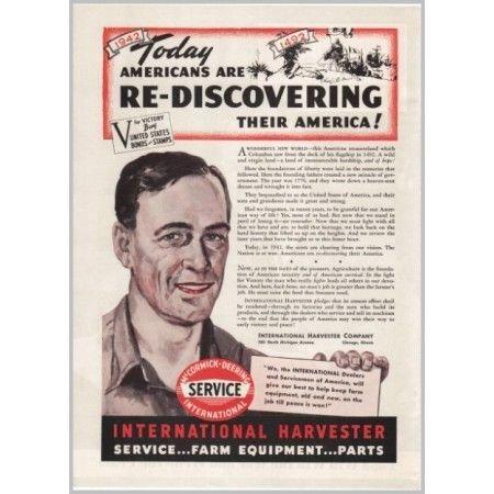 1942 International Harvester Color Print Ad - Re-Discovering