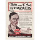1942 International Harvester Color Print Ad - Re-Discovering