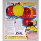 1946 Stark Nurseries and Orchards Apples Fruit Color Print Ad