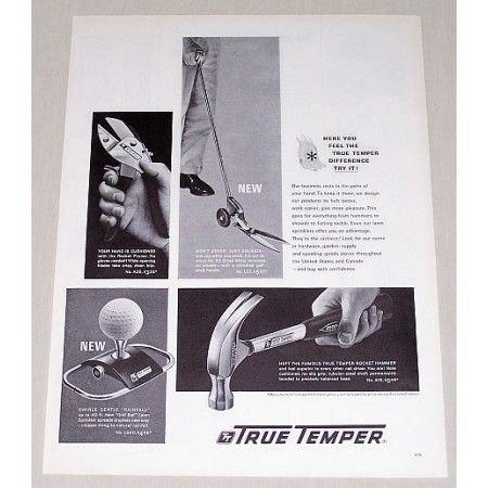 1963 True Temper Tools Products Print Ad