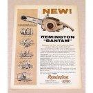 1959 Remington Bantam Chainsaw Color Print Ad