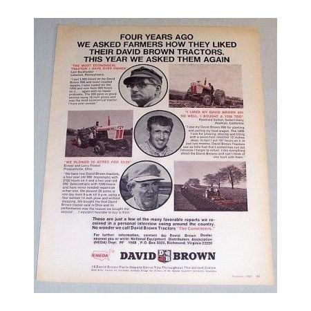 1969 David Brown Farm Tractor Print Ad