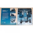 1969 Ford 8000 Farm Tractor 2 Page Print Ad