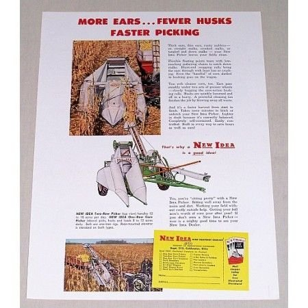 1952 Seaman 7ft Motorized Rotary Tiller Color Print Ad