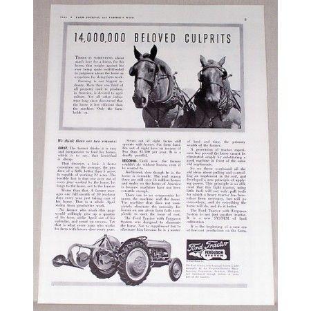1941 Ford Tractor Ferguson System Print Ad
