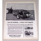1957 New Holland 100 Bushel Spreader Print Ad