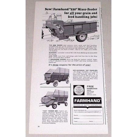 1966 Farmhand 220 Mixer Feeder Wagon Print Ad