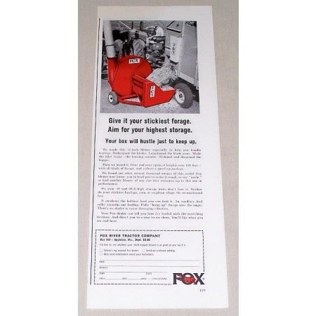 1966 Fox 52 Inch Forage Blower Color Print Ad