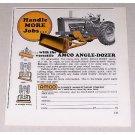 1967 Amco Angle-Dozer Tractor Dozer Blade Color Print Ad