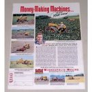 1951 Minneapolis Moline MM Farm Tractor Color Print Ad