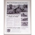 1942 Ford Tractor Ferguson System Print Ad