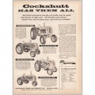 1953 Cockshutt Tractors Farm Equipment 4 Models Print Ad