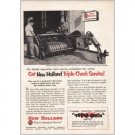 1954 New Holland Square Hay Baler Farm Print Ad