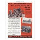1938 McCormick Deering Farm Tractor Color Print Ad