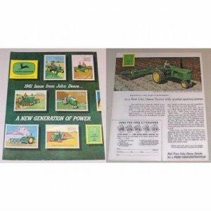 1961 John Deere Farm Tractor 4 Page Color Print Ad