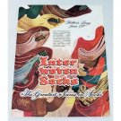 1948 Inter Woven Socks Color Art Print Ad