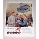 1952 Lee Adventure Men's Hat Color Print Ad