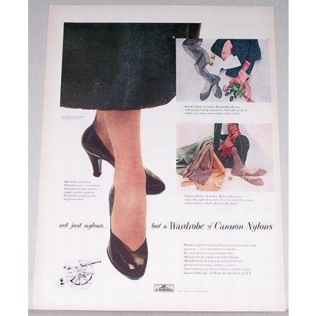 1948 Cannon Nylons Color Print Ad