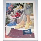 1948 U.S. Kedettes Casual Slippers Shoes Color Art Print Ad