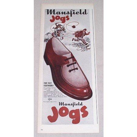 1946 Mansfield Jogs Dress Shoes Color Print Ad