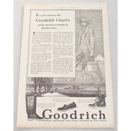 1929 Goodrich Rubber Footwear Boots Shoes Print Ad