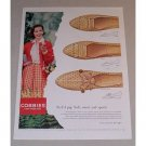 1958 Cobbies Red Cross Shoes Color Print Ad