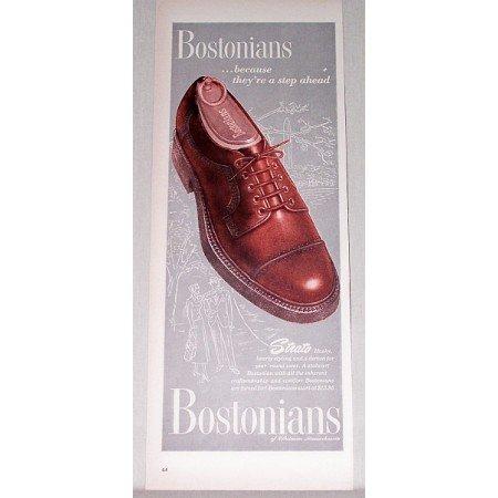 1947 Bostonians Strato Mens Dress Shoes Color Print Ad