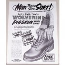 1954 Wolverine Pigskin Work Shoes Art Print Ad
