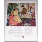 1948 Watchmakers Of Switzerland Color Christmas Art Print Ad - Gift Of Time