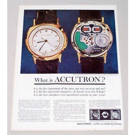 1960 Bulova Accutron Wristwatch Color Print Ad