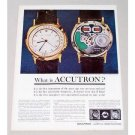 1960 Bulova Accutron Wristwatch Color Print Ad